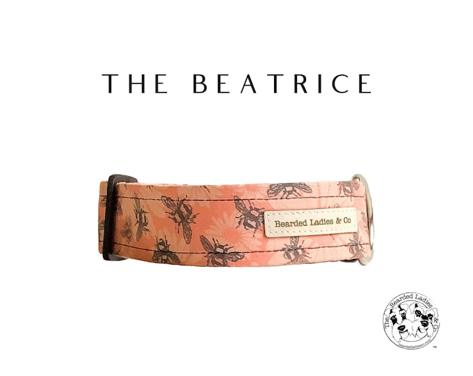 Featured listing image: The Beatrice : Floral and Bee Dog Collar