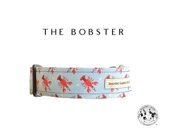 The Bobster : Light Blue with Lobsters Dog Collar
