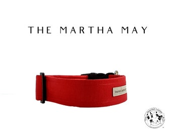 The Martha May : Red Iridescent Dog Collar