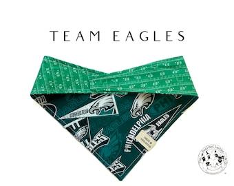 Team Eagles : Philadelphia Eagles Football Tie/On, Reversible Dog Bandana
