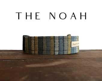 Navy with Blue, Gold & Silver Dog Collar : The Noah