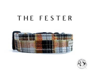 The Fester : Halloween Plaid Dog Collar