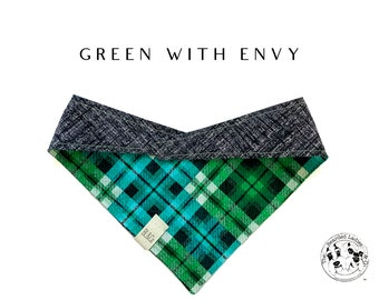 Green with Envy : Tie/On Dog Bandana