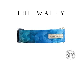 The Wally : Blue Geometric Dog Collar