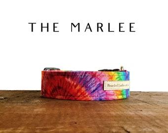 Tie Dye Dog Collar : The Marlee Multicolor Dog Collar