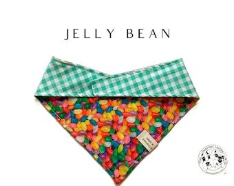 Jelly Bean Dog Bandana // Jelly Bean : Multicolored Easter Candy Reversible, Tie Dog Bandana