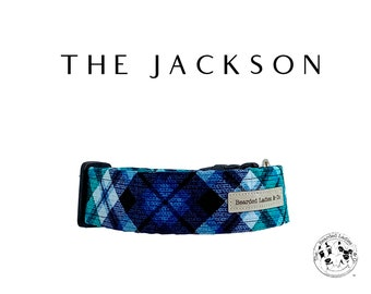 The Jackson : Teal Plaid Dog Collar