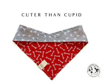 Cuter than Cupid : Paper Airplanes and Arrows Tie/On, Reversible Dog Bandana