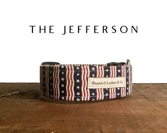 Stars & Stripes Dog Collar // The Jefferson : Red, White and Blue Dog Collar
