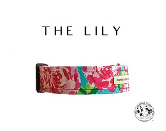 The Lily : Pink Floral Dog Collar