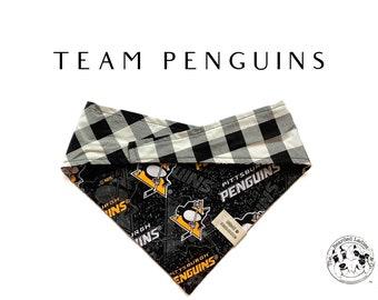 Team Penguins : Pittsburgh Penguins Tie/On, Reversible Dog Bandana