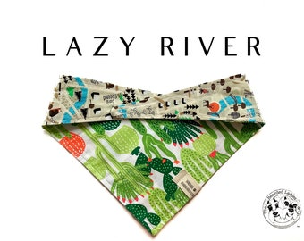 Lazy River  : Camping Tie/On, Reversible Dog Bandana