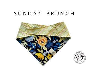 Sunday Brunch Tie/On Reversible Dog Bandana