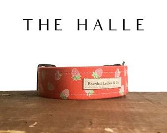 Strawberry Dog Collar // The Halle : Pink Mini Strawberry Summer Dog Collar
