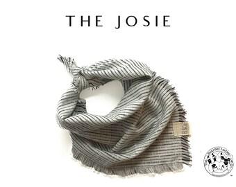 Cotton Fringed Dog Bandana // The Josie : Fringed Cotton Tie/On Bandana