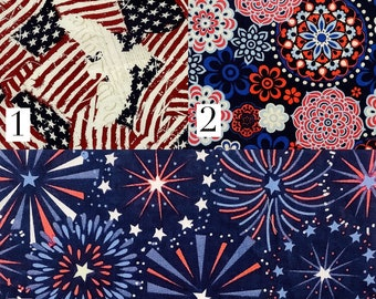 Pick Your Print Mask- Patriotic Prints : Adult Cotton Handmade Face Mask with Cotton Ties