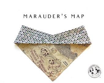 Marauder's Map : Harry Potter Tie/On, Reversible Dog Bandana
