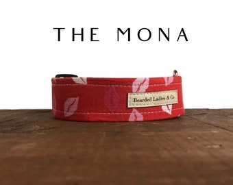 Valentine's Day Dog Collar // The Mona : Pink and Red Kisses Dog Collar
