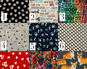 Pick Your Print Mask- Dog Lover Prints : Adult Cotton Handmade Face Mask with Cotton Ties