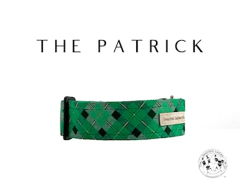 The Patrick : Green Plaid Dog Collar