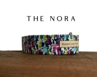 Multicolor Brushstrokes Dog Collar : The Nora