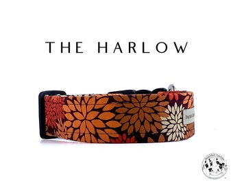 The Harlow : Fall Flowers Dog Collar
