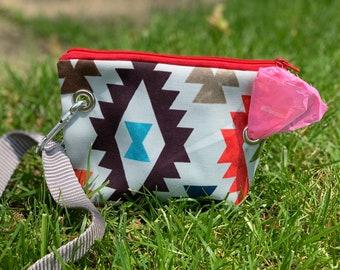 Aztec Water Resistant Leash Bag