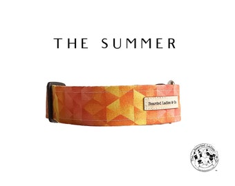 The Summer : Yellow and Orange Geometric Dog Collar