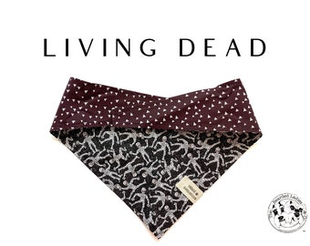 Living Dead : Halloween Glitter Mummies Tie/On, Reversible Dog Bandana