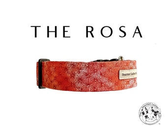 The Rosa : Red Floral Dog Collar