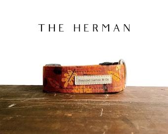Autumn Leaves & Acorns Dog Collar // The Herman : Burnt Orange Fall Dog Collar