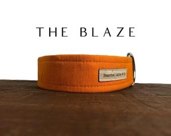 Bright Orange Dog Collar // The Blaze : Solid Colored Dog Collar