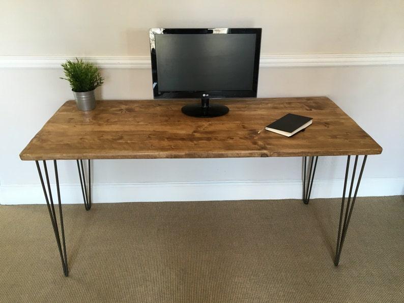 Bureau en bois rustique cm de large fabriqué à partir de etsy