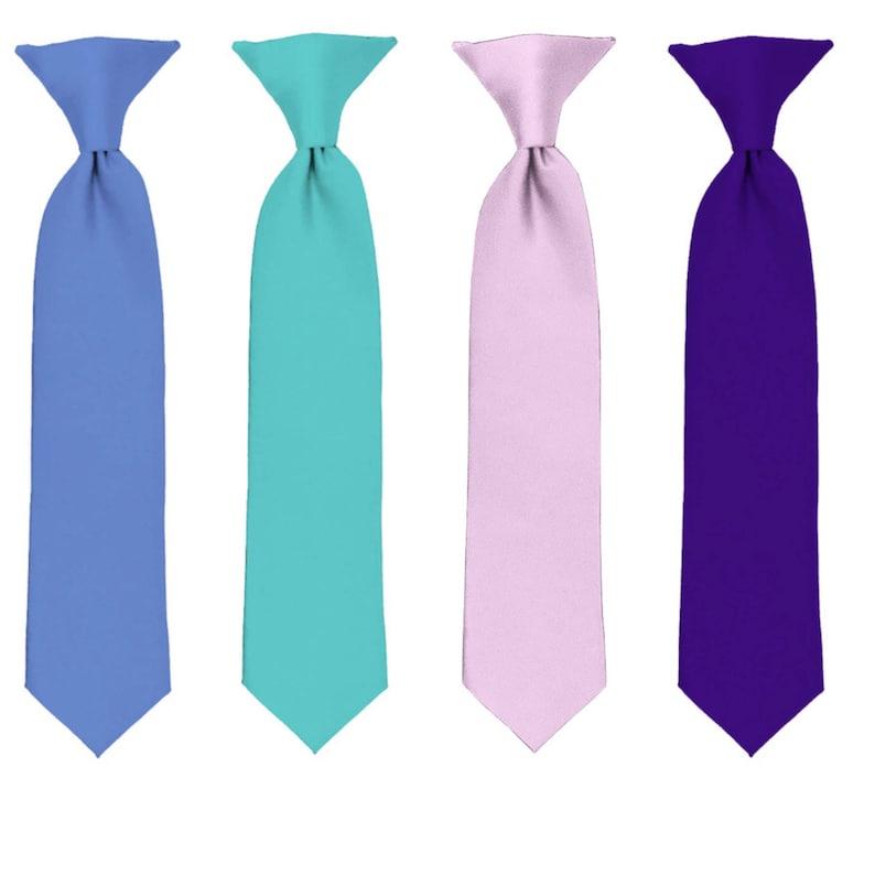 7642a686f0c8 Ties Boys Ties Light Pink Tie Deep Purple Tie Aqua Green