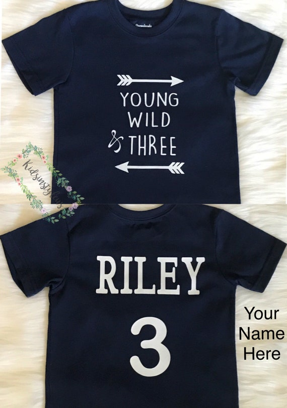 3rd Birthday Shirt 3 Year Old Three