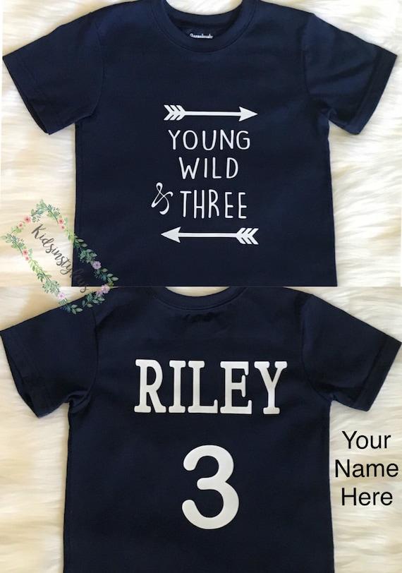 3rd Birthday Shirt 3 Year Old Three