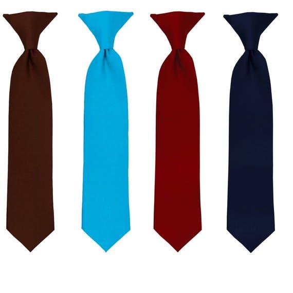 3a78d29cb6cc Navy Tie Burgundy TieBrown Tie Turquoise Tie Kids Ties