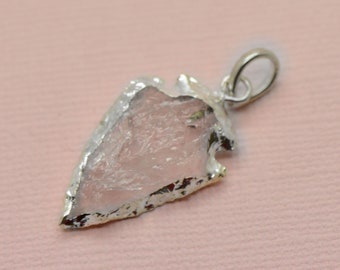 Gemstone Pendant 1pc Small Octahedron 8 Sided Gem Charm with Gold Frame 15mm