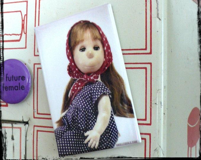 Poor Pitiful Pearl, fridge magnet, vintage doll, stocking stuffer, housewarming gift, dorm room, organizing, doll lover, birthday present,