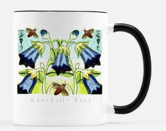 Harebell + Bees 11 oz. ceramic cup