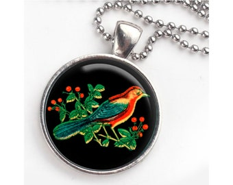 Red bird pendant and keychain. Great for bird lovers and bird watchers. Free Ship in US.