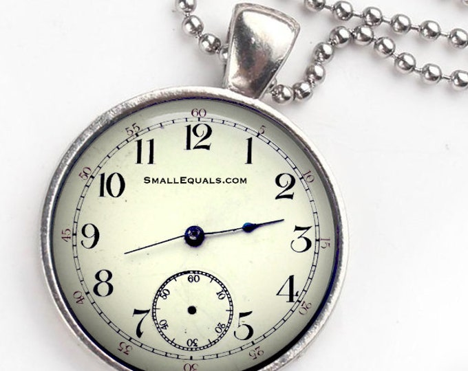 Pocket watch keychain pendant combination, Bag Charm, vintage watch, bag pendant.