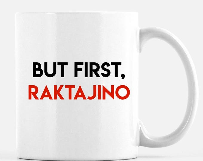 Star Trek Cup featuring Raktajino, Klingon favorite morning brew, like coffee but stronger, Star Fleet officers choose this beverage,