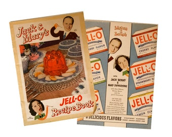 Jack Benny, Jack and Mary's 1937Jell-O Recipe Book, filled with illustrations and jokes, for the culinary ephemera collector