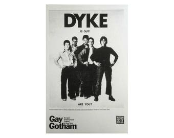 DYKE is out. UNFRAMED  Iconic 1974 flyer for DYKE, A Quarterly. Limited edition 2016 silkscreen print.