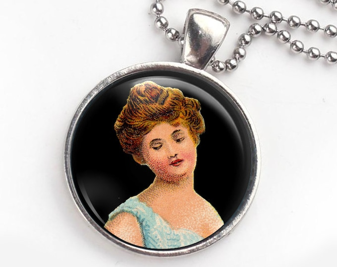 Victorian Lady Keychain and Pendant, convertible jewelry, funky bag charm, new driver gift, new homeowner gift, wear your keys