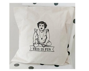Canvas pillowcase, this is fun, throw pillowcase. Free shipping to continental US.