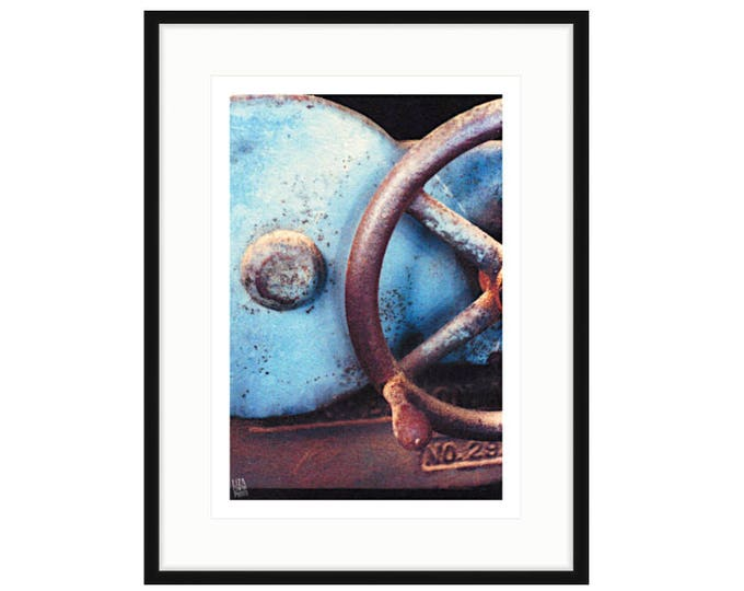 Shipyard Archeology, No. 29, framed  digital photo by Liza Cowan. Two sizes, two frame options. Free Shipping.