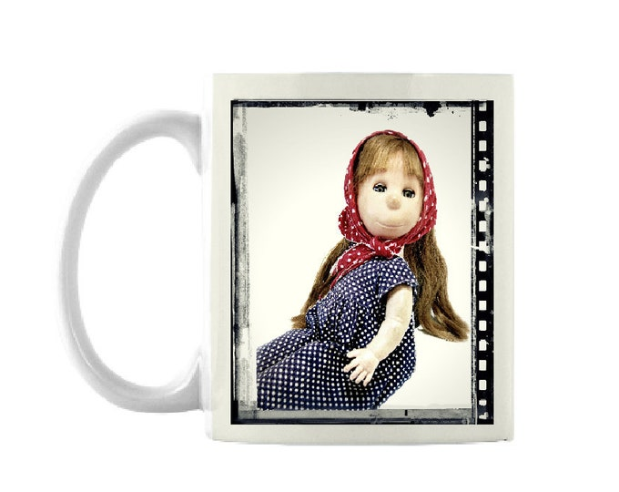 Poor Pitiful Pearl, 11 oz mug, vintage doll, classic doll, created by William Steig, favorite doll, mid century doll, doll lover gift