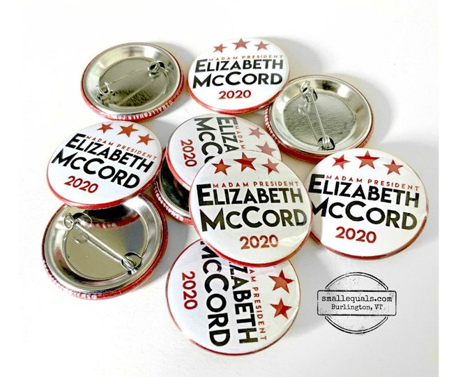 "Madam Secretary Elizabeth McCord for President. Fictional Secretary of State from TV's Madam Secretary starring Téa Leoni. 1.5"" button."